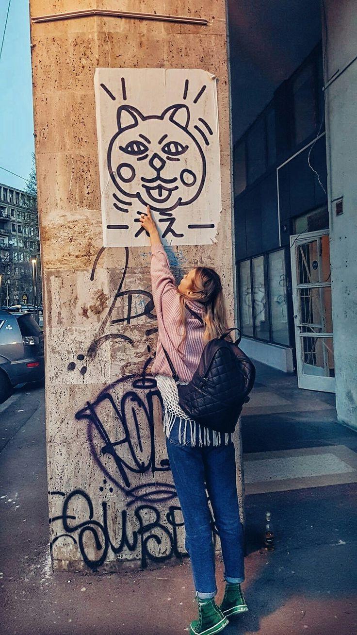 #cat # #feelslikesummer #not #bucharest #street #art