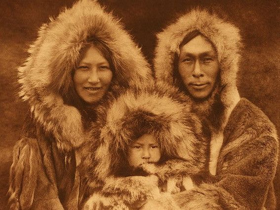 amazing looking inuit family