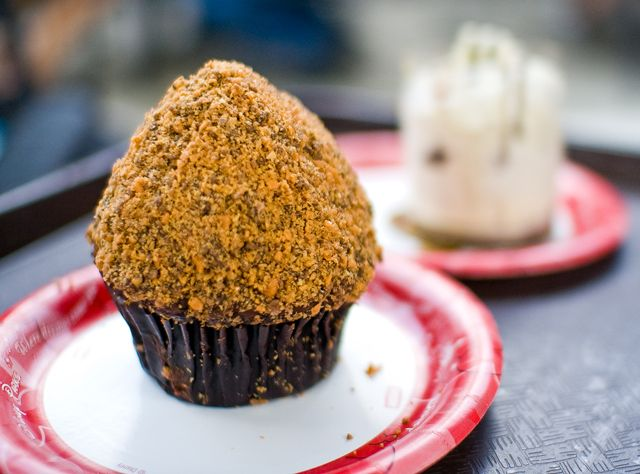 Butterfinger Cupcake  from Starrring Rolls in Hollywood Studios---4$ and Matt and I shared it and ate off of it 5xs...So delicious, So decadent!