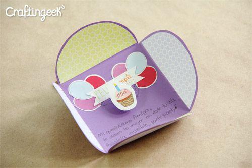 Craftingeek tarjeta cuadrada sencilla en v deo - Manualidades para hacer tarjetas ...