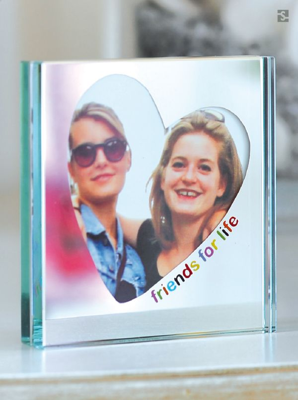 Friends For Life, Mirror Photo Frame by Spaceform.