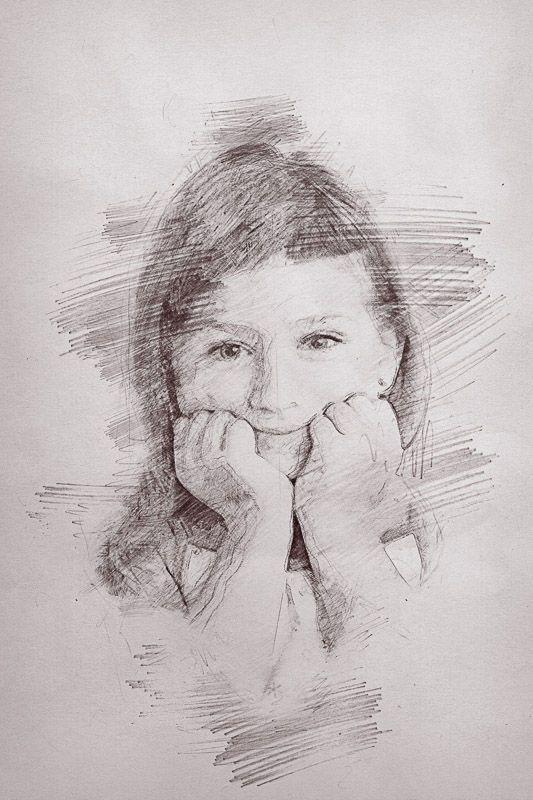 Focení pro základní a mateřskou školu - kreslený portrét