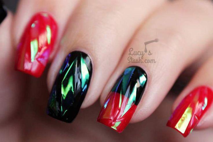 29+1 Εικόνες για Εκθαμβωτικά Glass Nail Designs | Woman Oclock