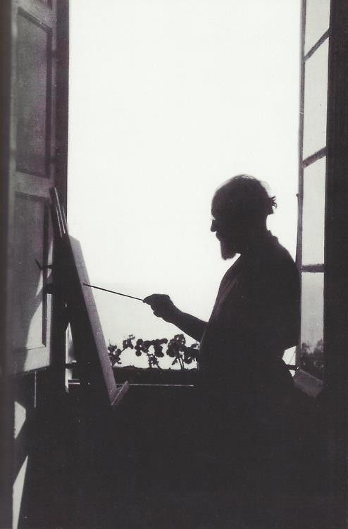 Books and Art — Henri Matisse painting in his apartment in Nice...