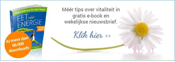 Tips over vitaliteit in gratis e-book en wekelijkse nieuwsbrief.
