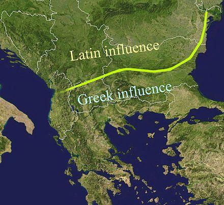 The Jireček Line between Latin- and Greek-language Roman inscriptions