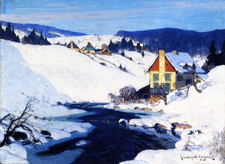 The Athenaeum - Mill and Stream, Morning Sun (Clarence Gagnon - )
