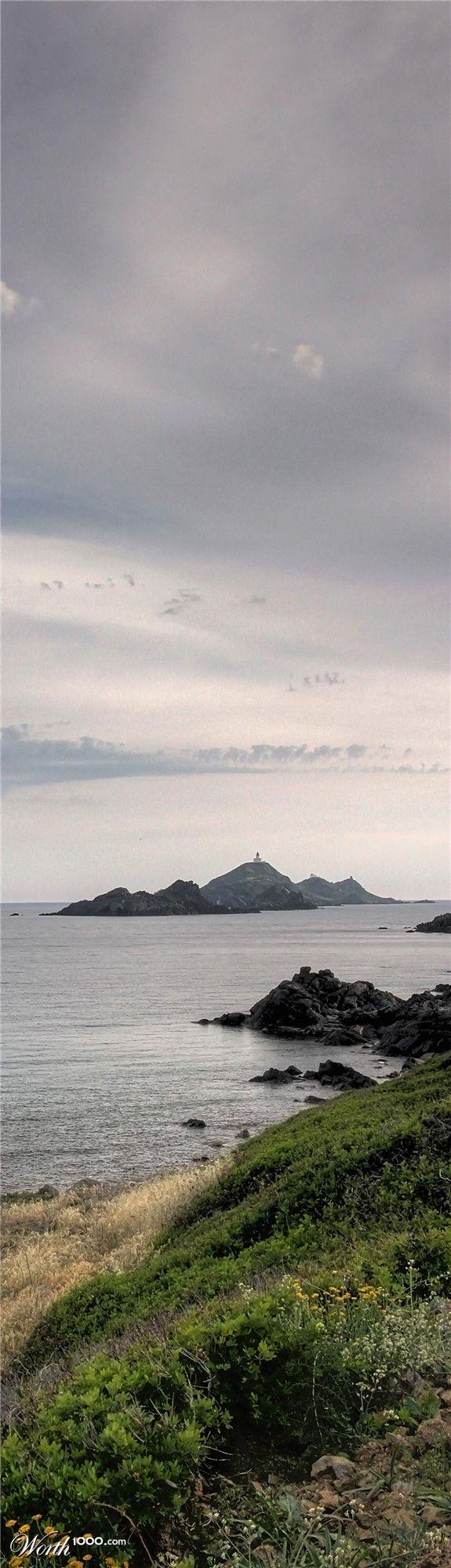 "The three ""bloody"" islands ashore Ajaccio (Corsica)"