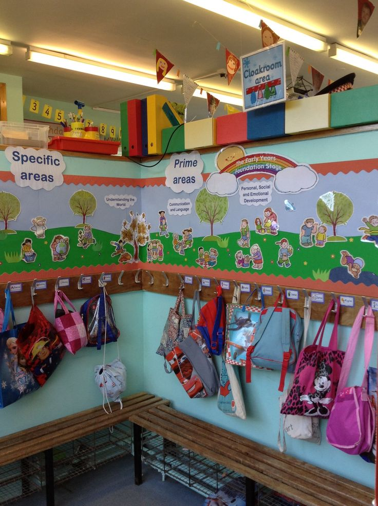 Eyfs Prime And Specific Areas Display In The Cloakroom
