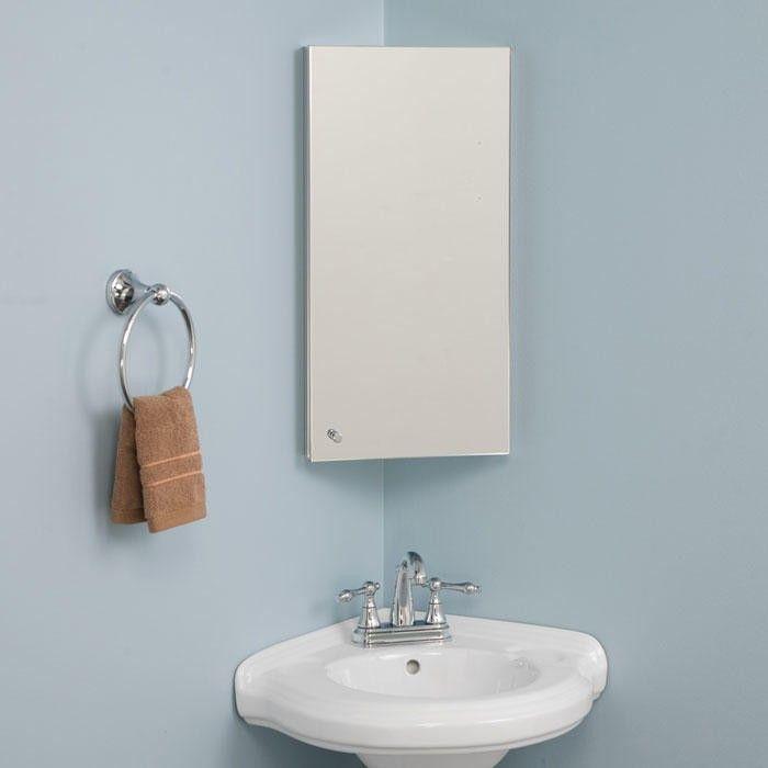 Matson Stainless Steel Corner Medicine Cabinet With Mirror