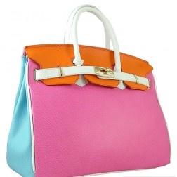 Timeless Italian Multi Colour Leather Bag.  Available at djante.com.