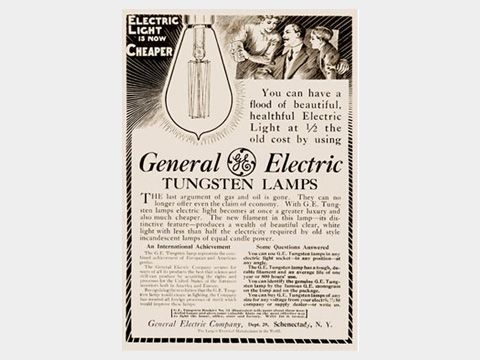 Tungsten lamps - General Electric