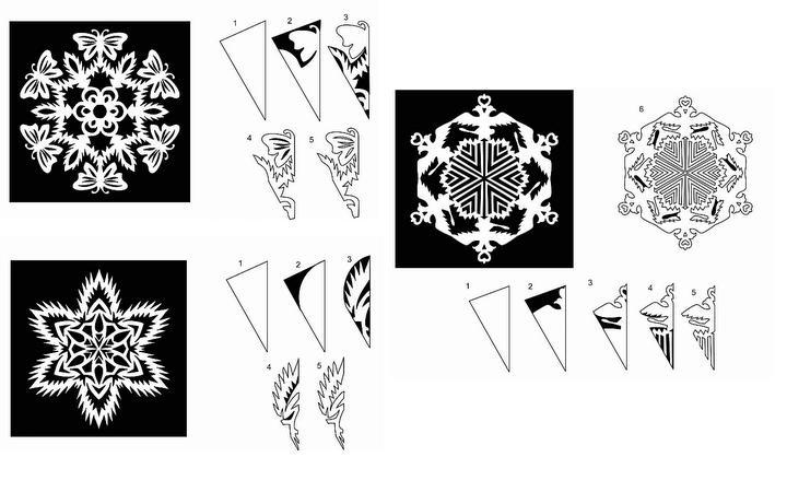 Paper Snowflake Cutting PATTERNS