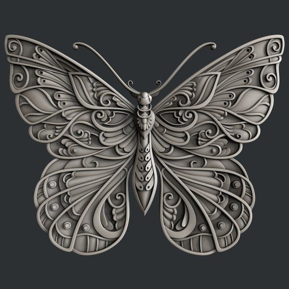 3d STL models for CNC router butterfly in 2020 Cnc