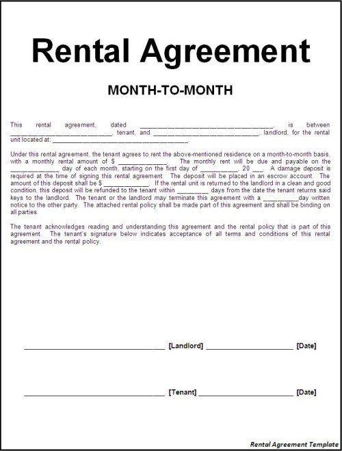18 Free  Premium Rental Agreement Templates PDF WORD Sample Docs