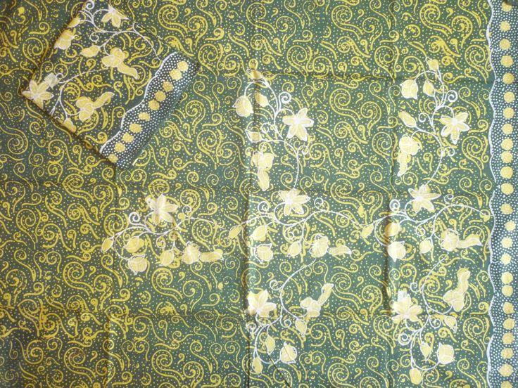 kain batik madura warna hijau
