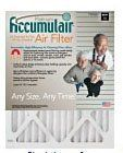 12x12x1 (11.5 x 11.5) Accumulair Platinum 1-Inch Filter (MERV 11) by Accumulair Platinum. $12.43. The Accumulair Platinum has uniform pleat shape enhances dust holding capacity and maximizes air flow. Up to 30-times more efficient at capturing allergens than ordinary fiberglass filters. Heavy duty construction frame prevents airflow bypass. Lasts UP TO 3 months! Proudly made in USA.