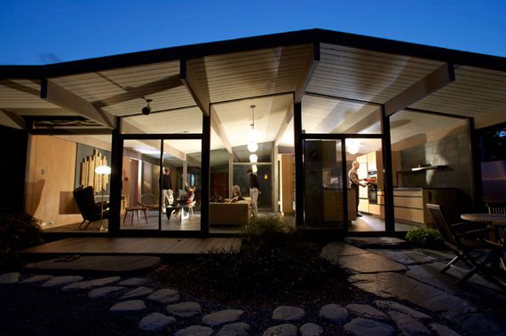 A Joseph Eichler Home in the Bay Area, built in the post-war boom period between the late 1940s and the mid-1960s