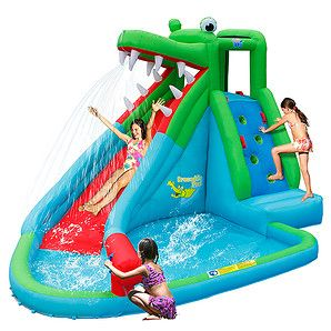 What child wouldn't love playing in this awesome crocodile water slide! With an air blower included, it will inflate in 1 minute. Kids' will have hours...