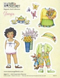 The Mary Engelbreit Store - Magnetic Doll Georgia - Detail | Shop entertainment | Kaboodle
