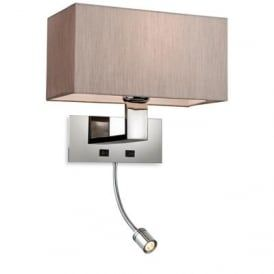 Firstlight 8608OY Prince 2 Light Switched Wall Light Polished Stainless Steel