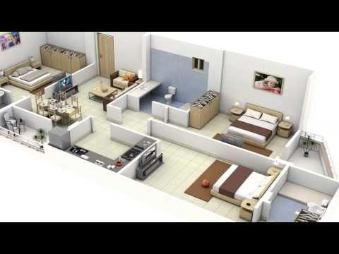 Plano de casa de 3 dormitorios y 70 metros - YouTube