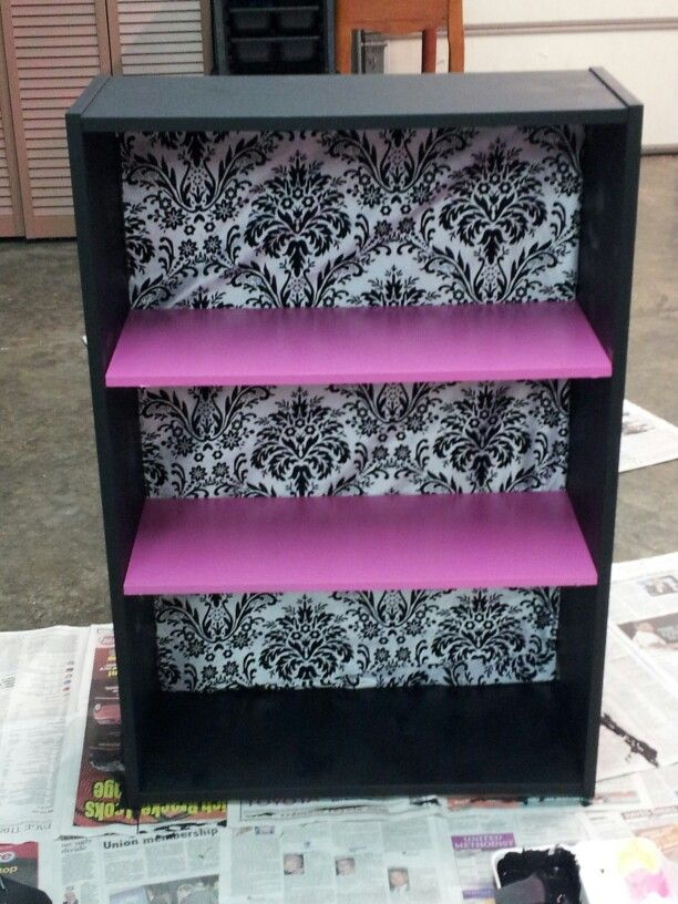 Painted this bookshelf for my college apartment!