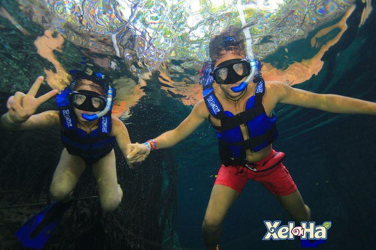 Snorkeling. Xel-Ha. Mexico