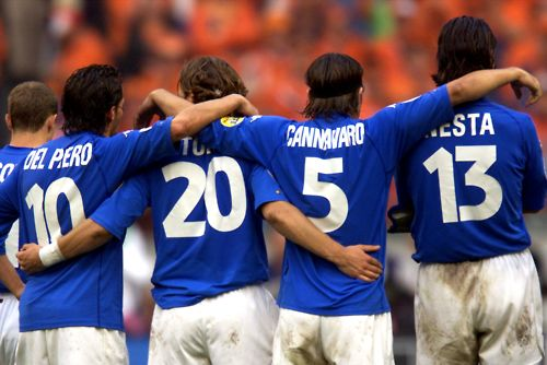 Azzuri - Del Piero / Totti / Fabio Cannavaro / Nesta - my boys!!!