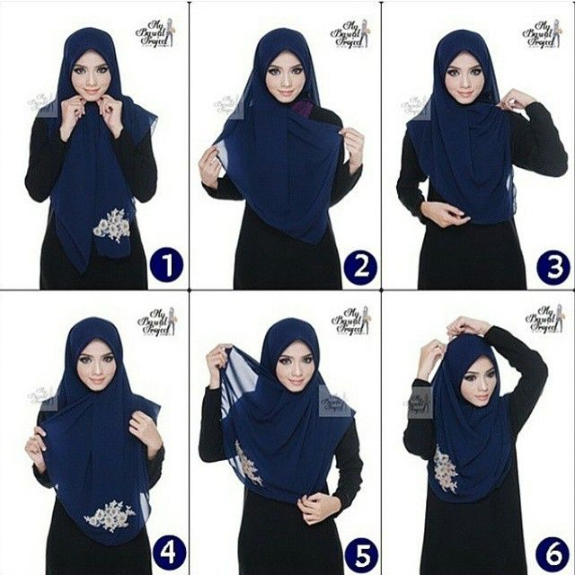 This is a full coverage hijab style, it covers pretty much everything, you can wear it for your daily style, it will suit every outfit, mostly abayas or maxi dresses. To get this done, fold your hijab into a triangle…
