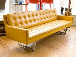 Stow Davis Naugahyde Sofa
