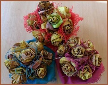 Kytice z podzimního listí #růže #podzim #listí