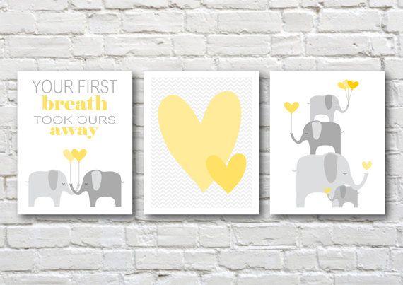 Elephants nursery art-children's by PinkMilkshakeDesigns on Etsy