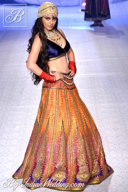 Kangana Ranaut for JJ Valaya at India Bridal Fashion Week 2013