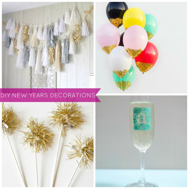 Few diy ideas to decorate your home for new year for Home decorations for new year