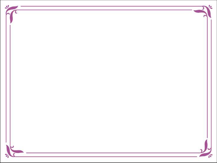 purple borders free powerpoint template simple purple