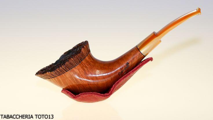 Posa pipe magnetico in pelle rossa di Claudio Albieri