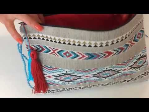 Tuto Couture - Sac enveloppe Ethnique - YouTube