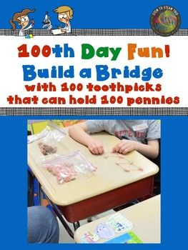 This is a STEM challenge can be used any day, but is particularly fun to do on the 100th day of school!.  You can cover the the Next Generation Science Standard for Engineering and Design, all while having fun!  There is a challenge sheet which clearly states the challenge, a poster about truss bridges, a tips and suggestions sheet, and an engineering and design process sheet for upper elementary grades.If you like this you might enjoy:STEAM:  Making Musical Instruments Out of Recycled…