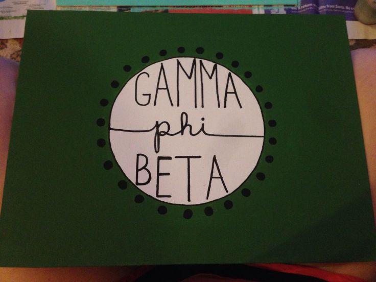 Gamma Phi Beta painted canvas sorority craft