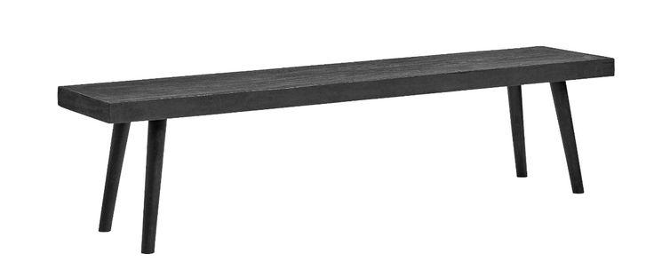 Bänk - Svart betong/trä i gruppen Sittmöbler hos Reforma Sthlm  (1253)
