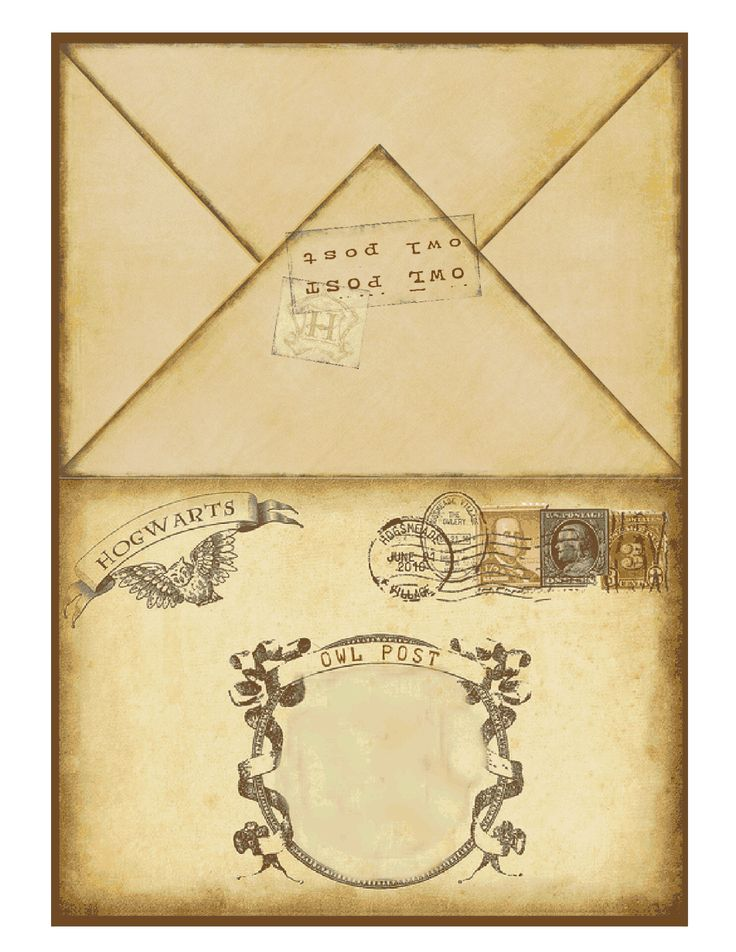 It is a photo of Trust Harry Potter Envelope Template Printable