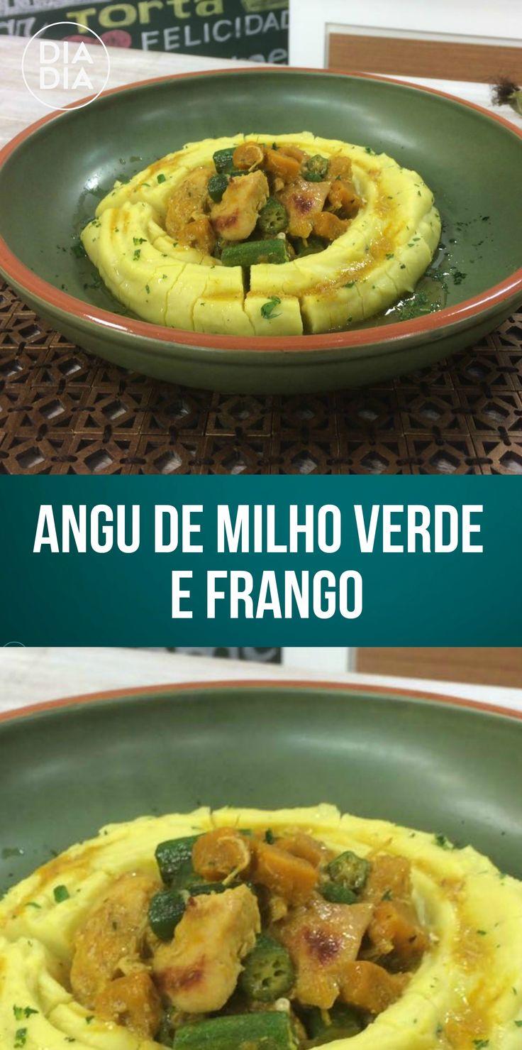 Angu de Milho Verde com Frango