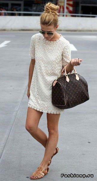 (+1) - УЛИЧНАЯ МОДА: Кружевные платья модниц | Мода