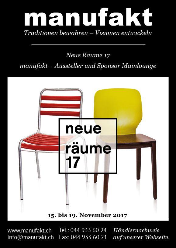 """Neue Räume 17 in Zürich. manufakt präsentierte Bättig Möbel und den neuen Holzstuhl """"Tristan""""."""