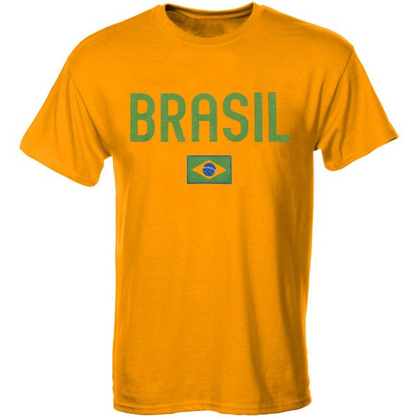 Brazil Country Flag T-Shirt - Yellow - $19.99
