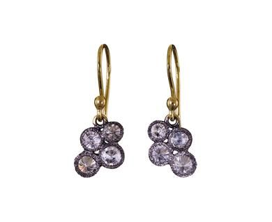 Todd Pownell | Inverted Diamond Cluster Earrings in Occasion Celebrate April! at TWISTonline