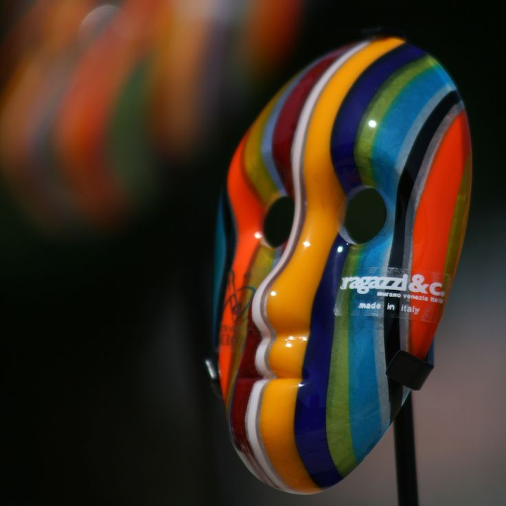 COLOMBINA Colored Mask by RAGAZZI #yourmurano #glassart #shopping