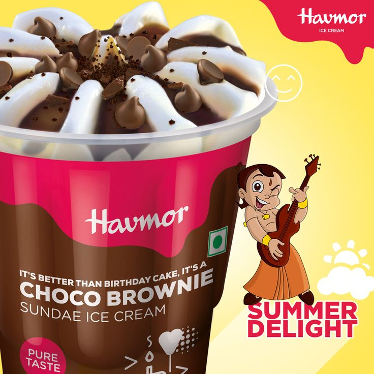 This summer, give in to the guiltiest #SummerDelight pleasure of our latest Choco Brownie Sundae with Chota Bheem.