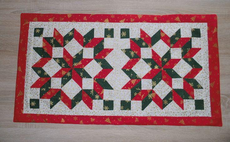 """Wohndekoration - Tischläufer-Weihnachten """"Rot und Grün"""" - ein Designerstück von SigridsKreativeDinge bei DaWanda"""